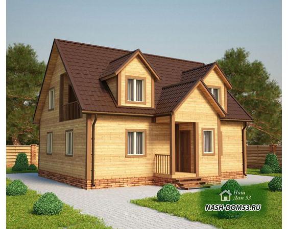 Проект Дома из бруса №12 «ТПД 12-8х10»