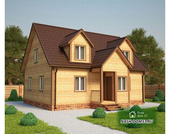 Проект Дома из бруса №15 «ТПД 15-10х8»