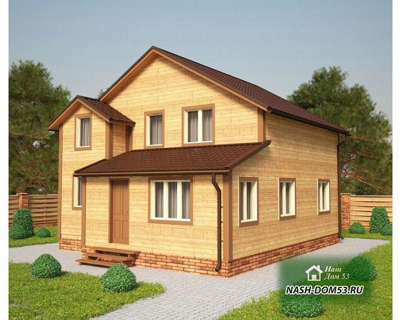 Проект Дома из бруса №17 «ТПД 17-8х9»
