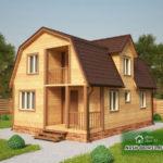 Проект Дома из бруса №20 «ТПД 20-6х9»