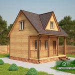 Проект Дома из бруса №23 «ТПД 23-6х6»