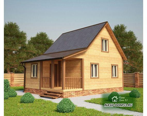 Проект Дома из бруса №25 «ТПД 25-6х8»