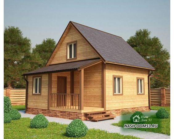 Проект Дома из бруса №26 «ТПД 26-6х8»
