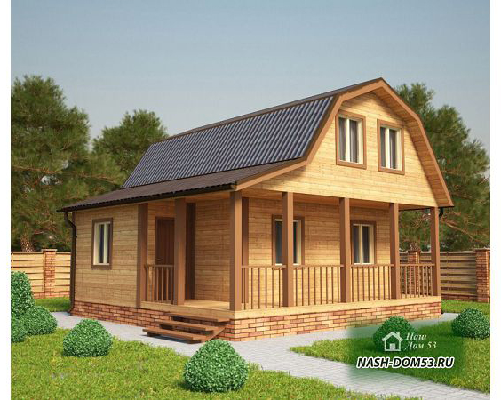 Проект Дома из бруса №28 «ТПД 28-7.5х7.5»