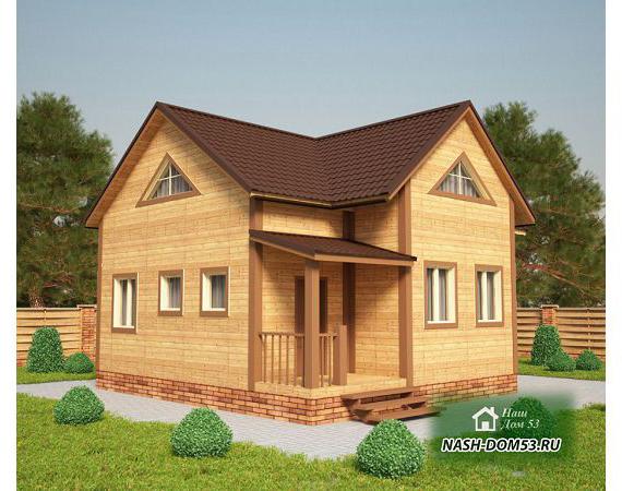 Проект Дома из бруса №31 «ТПД 31-7.5х9»