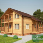 Проект Дома из бруса №32 «ТПД 32-9х9.5»