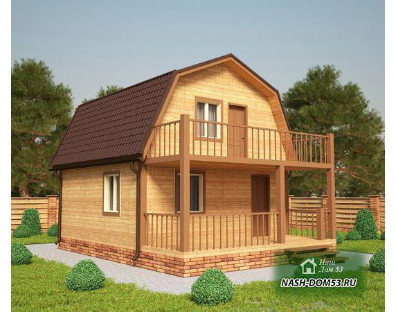 Проект Дома из бруса №33 «ТПД 33-6х8»