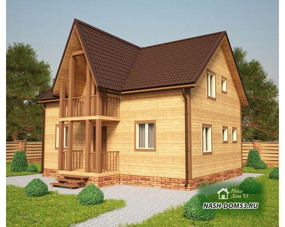 Проект Дома из бруса №35 «ТПД 35-9х7»
