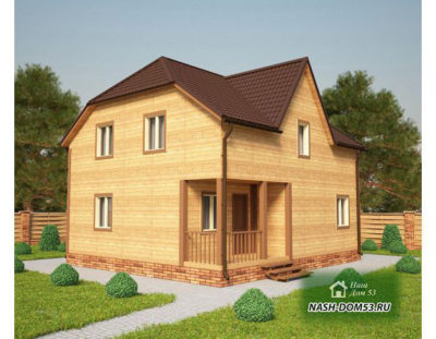 Проект Дома из бруса №36 «ТПД 36-9х8»