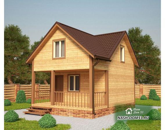 Проект Дома из бруса №37 «ТПД 37-5х7»