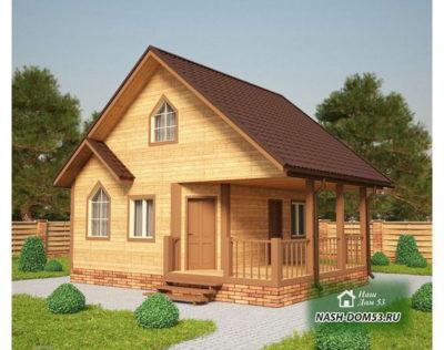 Проект Дома из бруса №39 «ТПД 39-7х7.5»