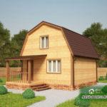 Проект Дома из бруса №40 «ТПД 40-6х6»
