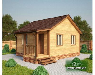 Проект Дома из бруса №44 «ТПД 44»