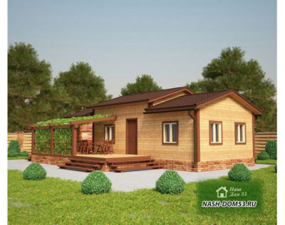 Проект Дома из бруса №46 «ТПД 46»