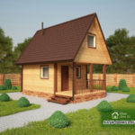 Проект Дома из бруса №48 «ТПД 48»