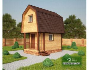 Проект Дома из бруса №49 «ТПД 49»(4Х6)