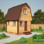 Проект Дома из бруса №50 «ТПД 50»