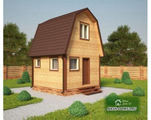 Проект Дома из бруса №50 «ТПД 50»(4Х4)