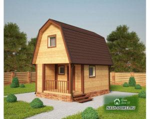Проект Дома из бруса №51 «ТПД 51»(4Х7.5)