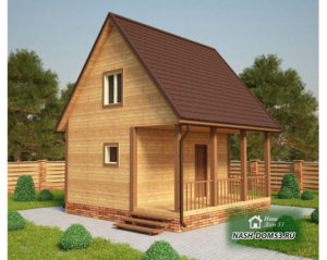 Проект Дома из бруса №52 «ТПД 52»(6Х5.5)