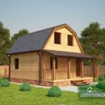 Проект Дома под усадку №27 «ТПД 27-6х7.5»