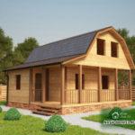 Проект Дома под усадку №28 «ТПД 28-7.5х7.5»