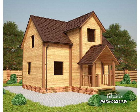 Проект Дома под усадку №30 «ТПД 30-8х8»