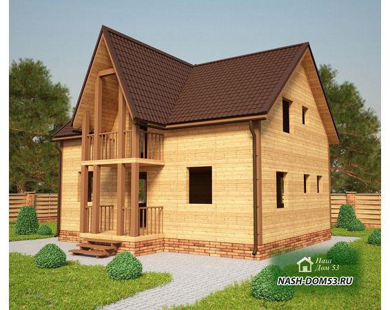 Проект Дома под усадку №35 «ТПД 35-9х7»