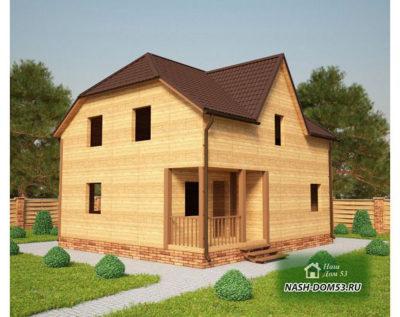 Проект Дома под усадку №36 «ТПД 36-9х8»