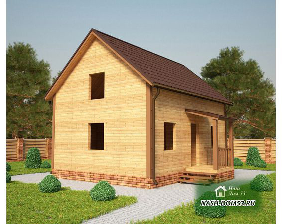 Проект Дома под усадку №5 «ТПД 5-6х8»