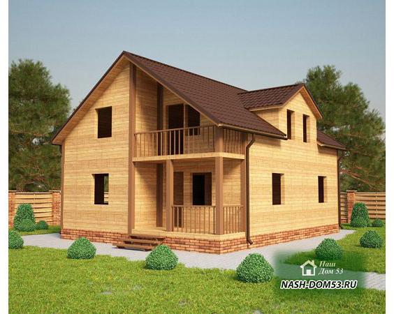 Проект Дома под усадку №10 «ТПД 10-8х10»