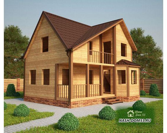 Проект Дома под усадку №11 «ТПД 11-7.5х9»