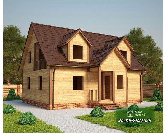 Проект Дома под усадку №12 «ТПД 12-8х10»