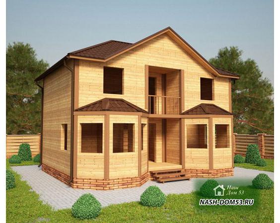 Проект Дома под усадку №16 «ТПД 16-7х9»