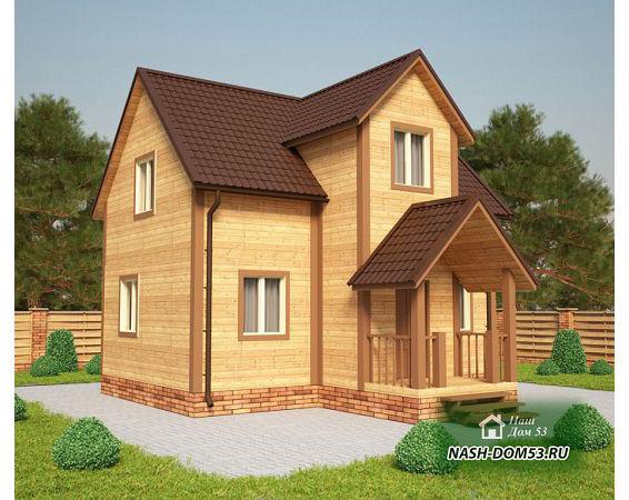 Проект Каркасного Дома №30 «ТПД 30-8х8»