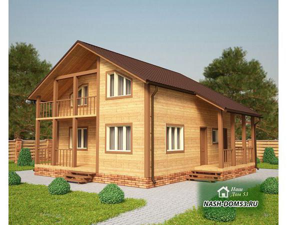 Проект Каркасного Дома №32 «ТПД 32-9х9.5»