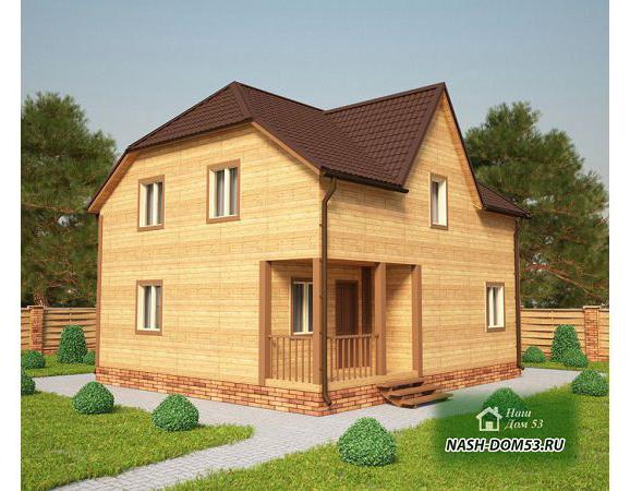 Проект Каркасного Дома №36 «ТПД 36-9х8»