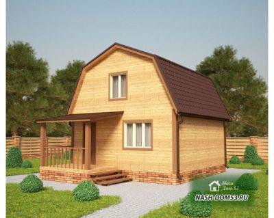 Проект Каркасного Дома №40 «ТПД 40-6х6»