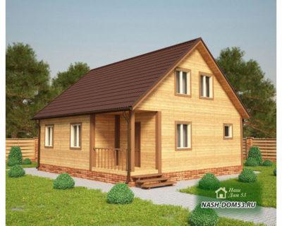 Проект Каркасного Дома №6 «ТПД 6-8х9»