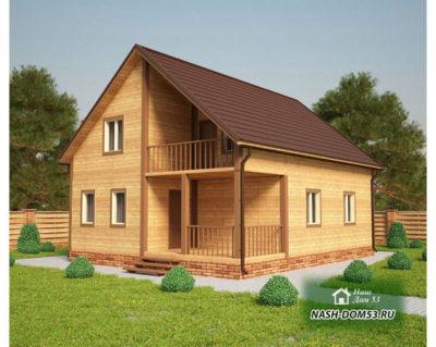 Проект Каркасного Дома №8 «ТПД 8-10х8»