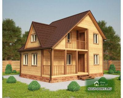 Проект Каркасного Дома №9 «ТПД 9-8х6»