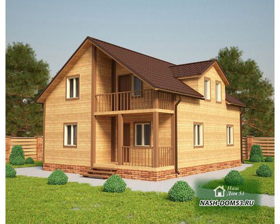 Проект Каркасного Дома №10 «ТПД 10-8х10»