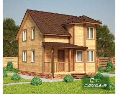 Проект Каркасного Дома №13 «ТПД 13-6х7.5»