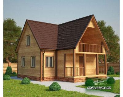 Проект Каркасного Дома №14 «ТПД 14-9-9»