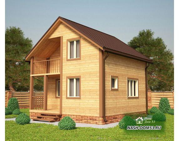 Проект Каркасного Дома №19 «ТПД 19-6х6»