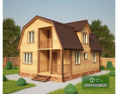 Проект Каркасного Дома №20 «ТПД 20-6х9»