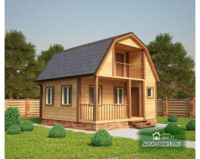 Проект Каркасного Дома №21 «ТПД 21-6х6»