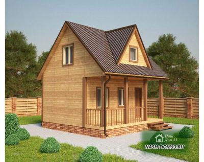 Проект Каркасного Дома №23 «ТПД 23-6х6»