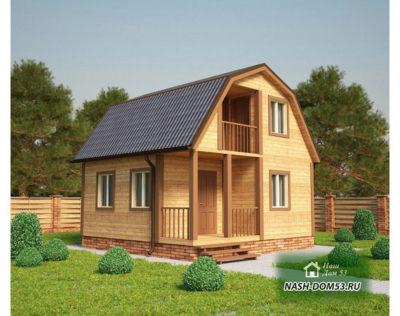 Проект Каркасного Дома №24 «ТПД 24-6х6»
