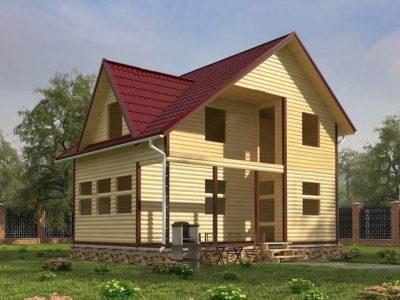 Проекты домов под усадку